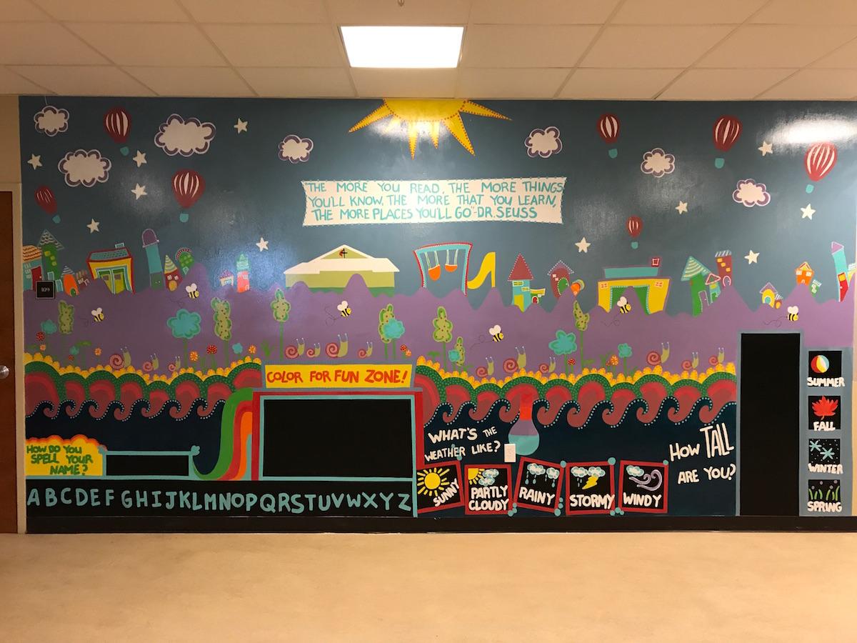 bella interactive mural