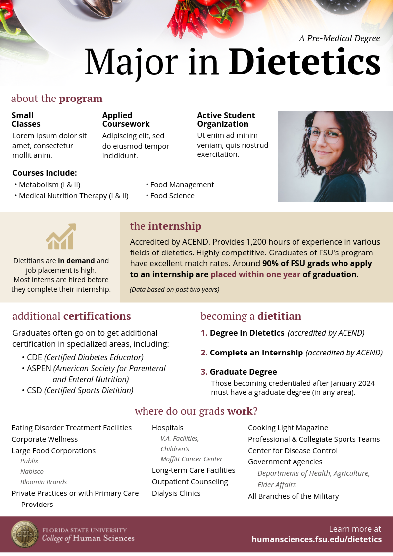 Dietetics Program Flyer