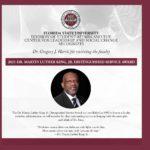 Dr Harris MLK Distinguished Service Award